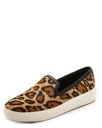 Zapatillas Slip-on de Ante de Leopardo Marrónes de Sam Edelman