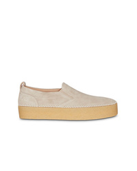 Zapatillas slip-on de ante en beige