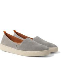 Zapatillas slip-on de ante grises de Mulo