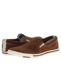 Zapatillas slip-on de ante marrónes