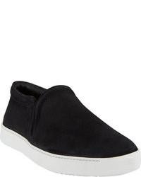 Zapatillas slip-on de ante negras
