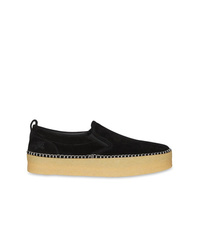 Zapatillas slip-on de ante negras de Burberry