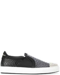 Zapatillas slip-on de ante negras de Philipp Plein