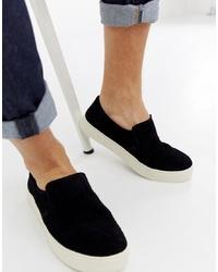 Zapatillas slip-on de ante negras de Toms