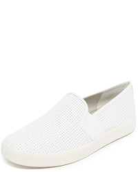 Zapatillas slip-on de cuero blancas de Vince