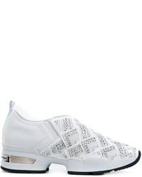 Zapatillas slip-on de cuero con tachuelas blancas de Ermanno Scervino