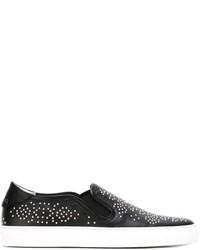 Zapatillas slip-on de cuero con tachuelas negras de Givenchy
