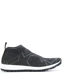 Zapatillas slip-on de cuero de estrellas negras de Jimmy Choo