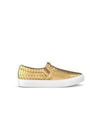 Zapatillas slip-on de cuero doradas de Swear