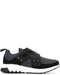 Zapatillas slip-on de cuero en gris oscuro de Neil Barrett