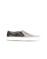 Zapatillas slip-on de cuero en negro y blanco de Givenchy