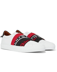 Zapatillas slip-on de cuero estampadas blancas de Givenchy