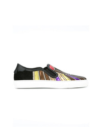 Zapatillas slip-on de cuero estampadas en multicolor de Givenchy