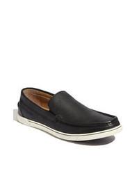 Zapatillas slip-on de cuero negras