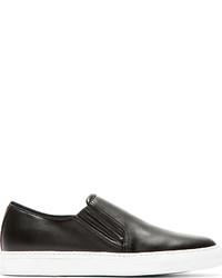 Zapatillas slip-on de cuero negras de Balmain
