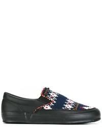 Zapatillas Slip-on de Cuero Negras de Comme des Garcons