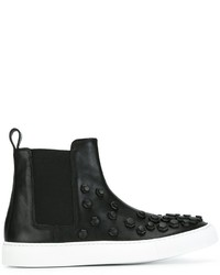 Zapatillas slip-on de cuero negras de Dsquared2