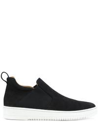 Zapatillas slip-on de cuero negras de Eleventy