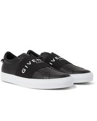 Zapatillas slip-on de cuero negras de Givenchy