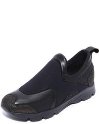 Zapatillas slip-on de cuero negras de Maison Margiela