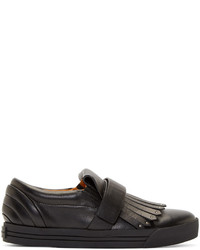 Zapatillas slip-on de cuero negras de Marc Jacobs