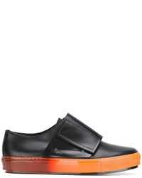 Zapatillas slip-on de cuero negras de Marni
