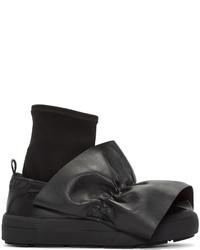 Zapatillas slip-on de cuero negras de MSGM