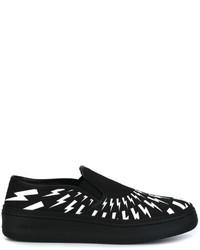 Zapatillas slip-on de cuero negras de Neil Barrett