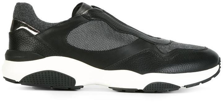 Zapatillas slip-on de cuero negras de Salvatore Ferragamo