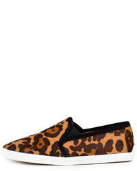 Zapatillas slip-on de leopardo marrónes