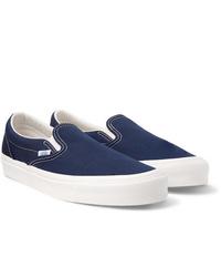 Zapatillas slip-on de lona azul marino de Vans