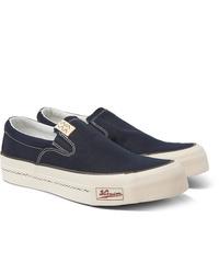Zapatillas slip-on de lona azul marino de VISVIM