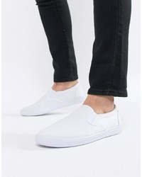 Zapatillas slip-on de lona blancas de ASOS DESIGN