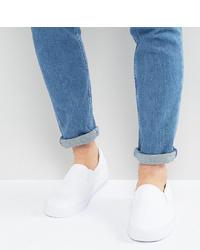 Zapatillas slip-on de lona blancas de ASOS DESIGN