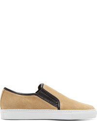 Zapatillas slip-on de lona en beige de Balmain
