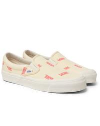 Zapatillas slip-on de lona en beige de Vans