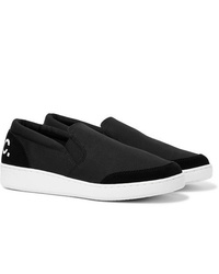 Zapatillas slip-on de lona negras de A.P.C.