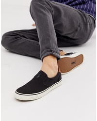 Zapatillas slip-on de lona negras de Polo Ralph Lauren