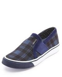 Zapatillas slip-on de tartán azul marino de DKNY