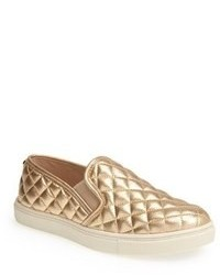 Zapatillas slip on doradas original 9767425
