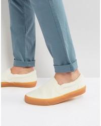 Zapatillas slip-on en beige de Asos