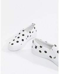 Zapatillas slip-on en blanco y negro de ASOS DESIGN
