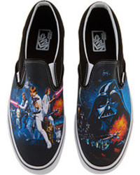 Zapatillas slip-on estampadas azules