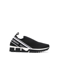 Zapatillas slip-on estampadas en negro y blanco de Dolce & Gabbana