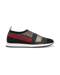 Zapatillas slip-on estampadas negras de Fendi