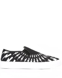 Zapatillas slip-on estampadas negras de Neil Barrett