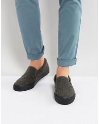 Zapatillas slip-on grises de Asos