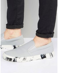 Zapatillas slip-on grises de Asos