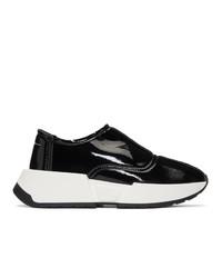 Zapatillas slip-on gruesas en negro y blanco de MM6 MAISON MARGIELA
