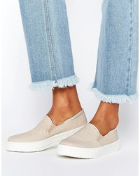 Zapatillas slip-on marrón claro de Asos